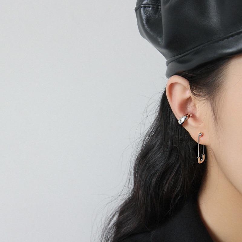 Silvology 925 Sterling Silver Pin Stud Earrings Elegant Minimalist Korea Style Earrings for Women 2019 Silver 925 Jewelry Girls