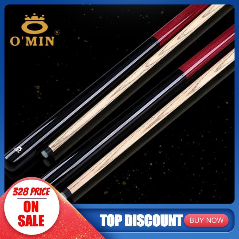 New Arrival O'min Brand Break Punch Jump Cue Billiard Stick Kit Ash Wood Shaft Professional Handmade Durable China 2019