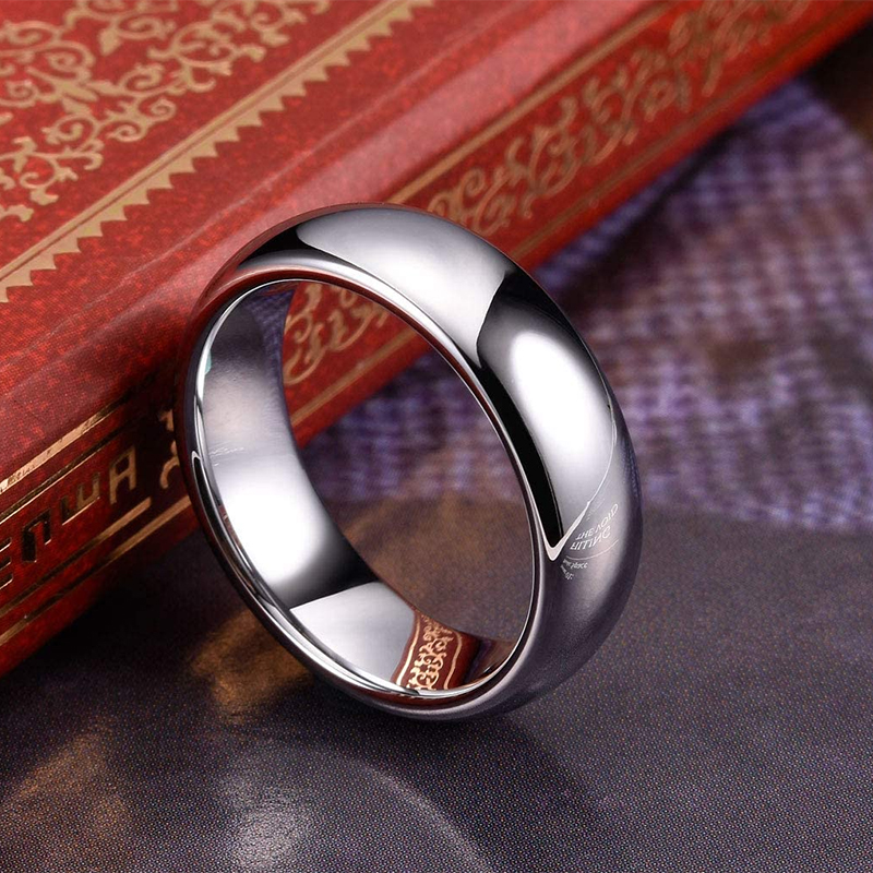 2/4/6/8mm Tungsten Carbide Rings for Women Men Wedding Engagement Bands Polished Shiny Engraving Comfort Fit Gifts for Him Her