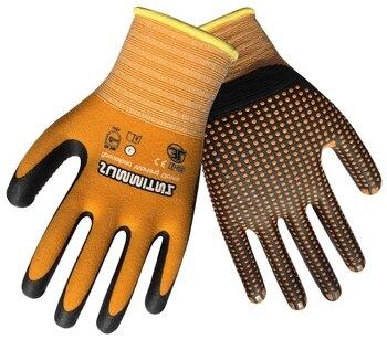 Super Grip Garden Glove 6 Pairs Nitrile Foam Micro Dot Palm Coated Work gloves цена 2017