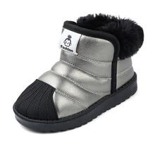 Children Boots Shoes Baby-Girls Outdoor Boys Waterproof Winter Kids Infant Non-Slip Warm