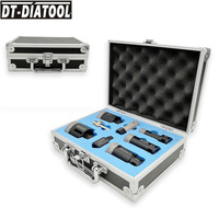 DT DIATOOL 1 kit Vacuum Brazed Diamond Drill Core Bits Mixed Size Hole Saw Drilling Bit plus 3/8 Hex M14 Adapter and Finger Bit