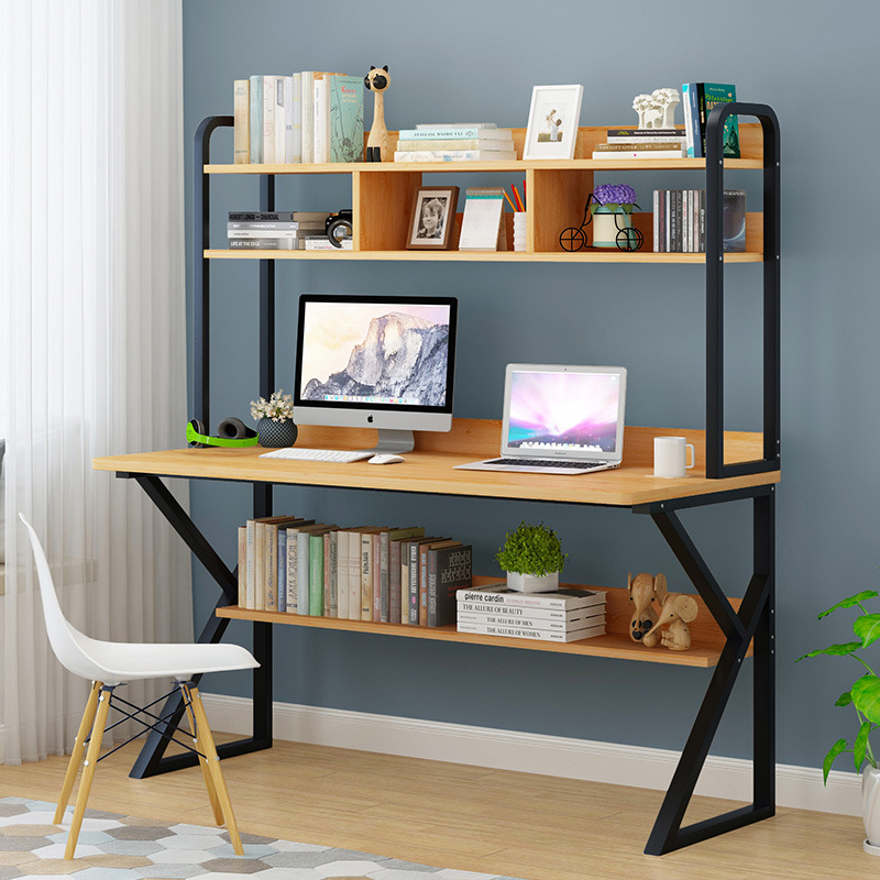 Home Desktop Computer Desk Simple Large Shelf Combination Office Desk Bedroom Students Simplicity Small Desk Writing Desk