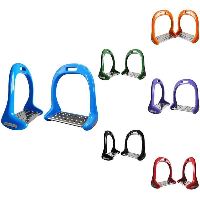 1 Pair Equipment Thickened Anti Slip Treads Pedal Outdoor Sports Riding Equestrian Safety Horse Stirrups