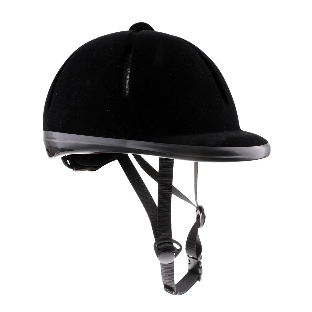Unisex Sturdy Breathable Horse Riding Helmet Safety Velvet Equestrian Helmet For Men Women