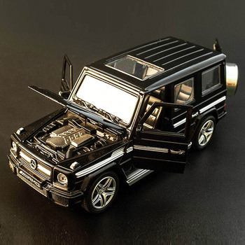 Gorący stop model odlewu samochodu G65 SUV 1 32 dzieci metalowe zabawki koła samochód sportowy wycofać miga dzieci prezenty na urodziny boże narodzenie tanie i dobre opinie JEERKOOL 3 lat Diecast 3212G