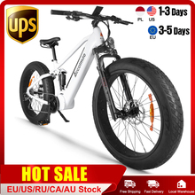 2020 New Electric Snow Bike 1000W 4.0 Tire Fat Beach Bicycle 12.8AH Lithium LG Cell ebike