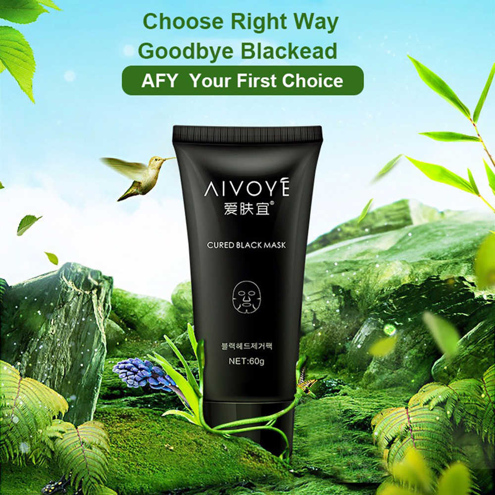 Black m ask Deep Cleansing Face m ask Tearing Style Resist o ily Skin  Nose b lackhead Remover Mud m ask 60g Shills