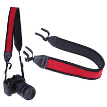 Universal Camera Shoulder Neck Strap Adjustable Cotton Leather Belt For Sony Canon Nikon DSLR Cameras Strap Accessories Part(China)