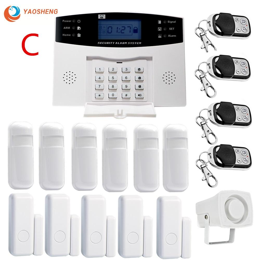 Kit de système d'alarme de sécurité à domicile sans fil d'affichage à cristaux liquides