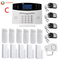 LCD Dispaly Draadloze Home Security Alarm Systeem Kit GSM Alarm Intercom Afstandsbediening Autodial IOS Android APP Controle