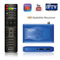 Koqit Receptor DVB-S2 T2MI sintonizador DVB S2 Receptor de TV por satélite Receptor de satélite espejo fundido Cs iptv decodificador Biss Wifi Youtube