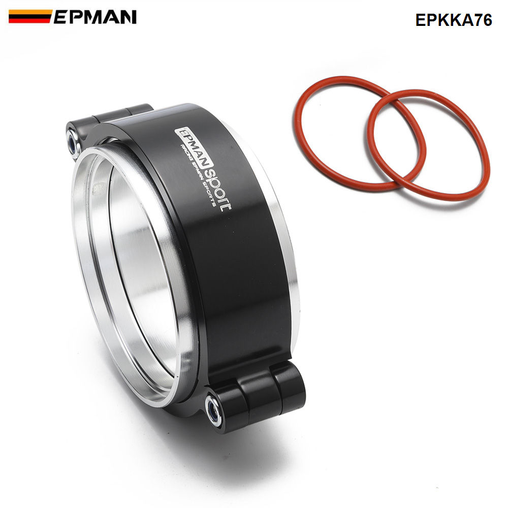 Epman Clamping System Assembly  Exhaust V-band Clamp w Flange  For 3inch OD Tubing Pipe Anodized EPKKA76
