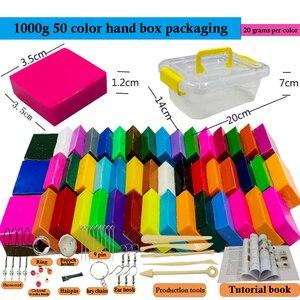 Image 1 - 50 Kleuren Polymer Clay Licht Zachte Klei Diy Zachte Molding Craft Oven Bakken Klei Blokken Verjaardagscadeau Voor Kinderen Volwassen veilige Kleurrijke CE gecertificeerd