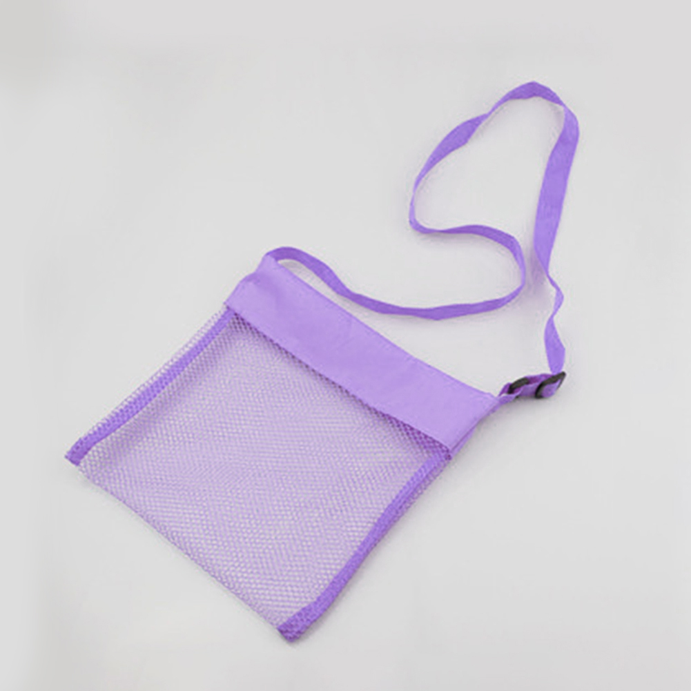 Sand Toy Storage Mesh Bag Water Fun Oxford Cloth Kids Carry Crossbody Large Capacity Organizer Portable Adjustable Strap Outdoor