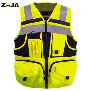 ZUJA Reflective Vest with Pockets High Visibility Safety Vest Outdoor