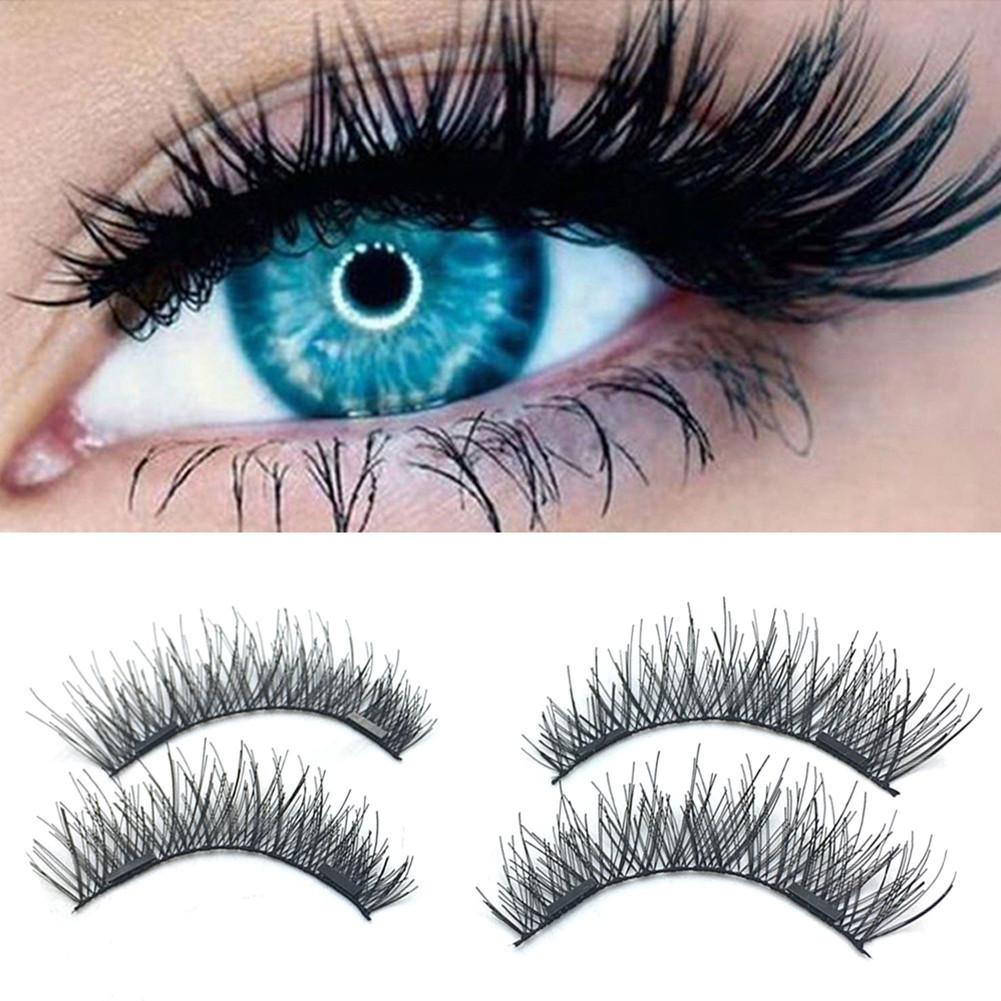 3D <font><b>Magnetic</b></font> <font><b>Eyelashes</b></font> False <font><b>Eyelashes</b></font> on the <font><b>magnet</b></font> Double <font><b>Magnet</b></font> Full Strip <font><b>Magnetic</b></font> Lashes Soft Hair Reusable Fake Eye Lashes image