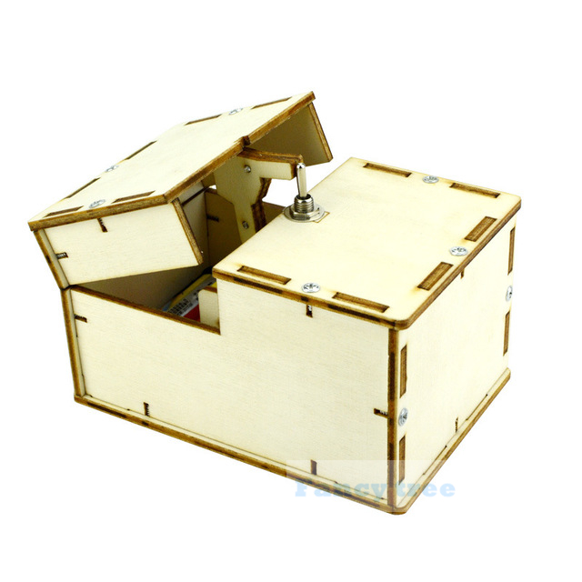 Creative Boring Box Wooden Toy Useless Box Gifts Storage Box Toy Super Funny Anti Stress  For Adults And Children Surprise Joke