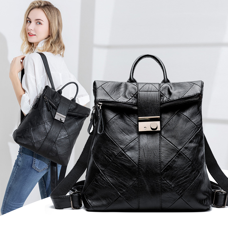 NEW fashion backpack women backpack Leather school bag women Casual style Back Pack School Bags For Teenage Girls Sac A Dos