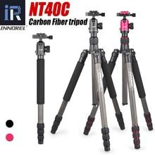 NT40C المهنية ألياف الكربون ترايبود Monopod حامل الكرة رئيس ل DSLR الرقمية كاميرا ضوء عالية الجودة Tripe ل GoproTripode