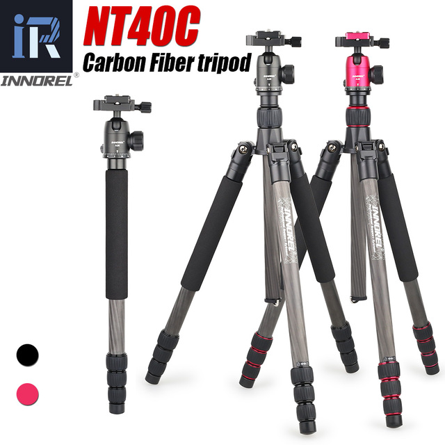 NT40C מקצועי סיבי פחמן חצובה חדרגל Stand כדור ראש עבור דיגיטלי DSLR מצלמה אור גבוהה באיכות מעיים עבור GoproTripode