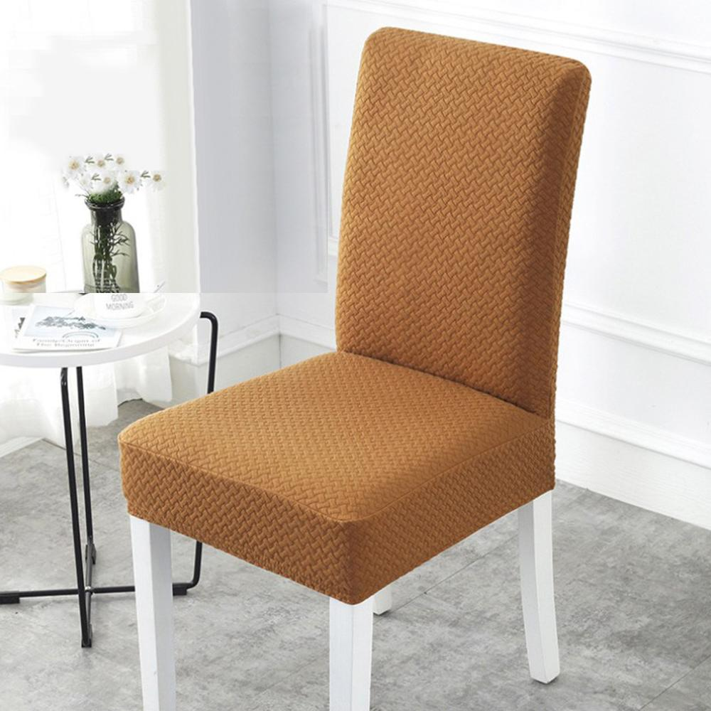 Knit elastic splash-proof chair cover simple Elastic Handmade Waterproof Decorative Chair Seat Covers