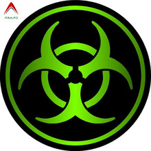 Aliauto Cover Scratch Car Sticker Zombie Bio Hazard Retro-reflective Bike Motorcycle Car-styling Accessories PVC Decal,8*8cm(China)