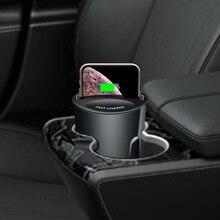 Cargador inalámbrico multifuncional para móvil, cargador inalámbrico 2 en 1 para samsung galaxy S20 5W/7,5 W/10W, iphone, X8