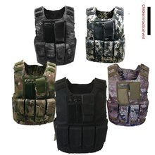 + Pictogrammen Kids Vest Jongen Jas Vest Cs Schieten Bescherming Armor Vest Kid Militaire Training Multifunctionele Tactische Vest(China)