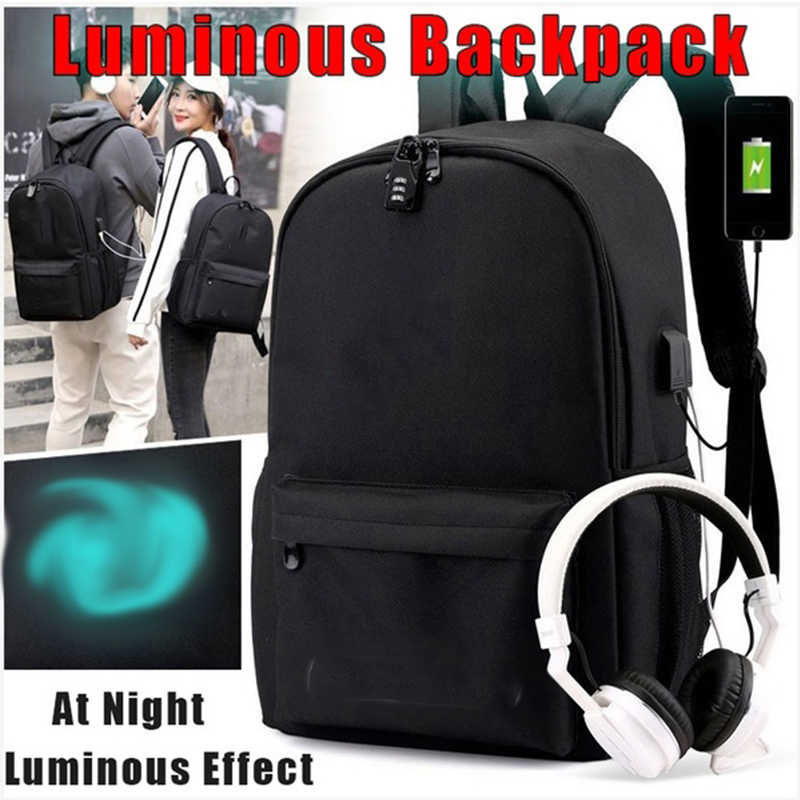 BPZMD DJ Backpack multifunction USB charging for teenagers boys Student Girls School Bags travel Luminous Bag Laptop
