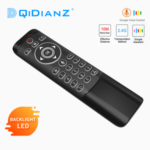Image 1 - MT1 Voice Remote Control Google Air Mouse 2.4G with Gyroscope IR Learning LED Backlit For Android TV Box HK1 X96 H96 MAX Mini
