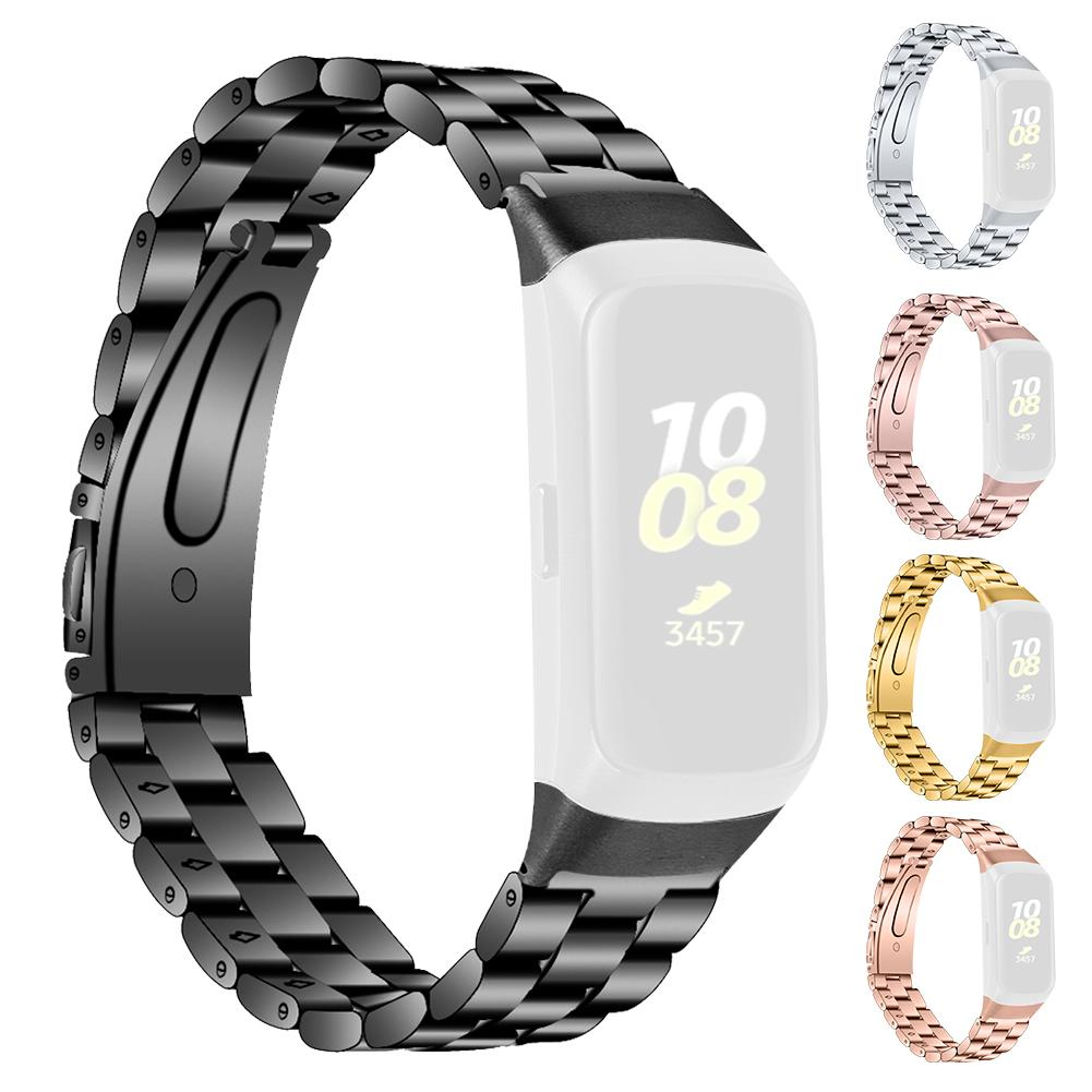 High Quality  Metal Replacement Watch Band Stainless Steel Watch Strap For Samsung Galaxy Fit SM-R370 Smart Bracelet