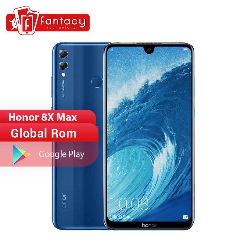 Honor 8X Max Smartphone Global Rom 7.12'' Big Screen Octa Core Mobile Phone Android 8.1 Dual Camera 5000mAh OTA Google Play