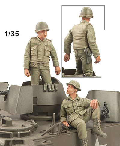 1/35 Ancient Crew Talk Include 2  Resin Figure Model Kits Miniature Gk Unassembly Unpainted