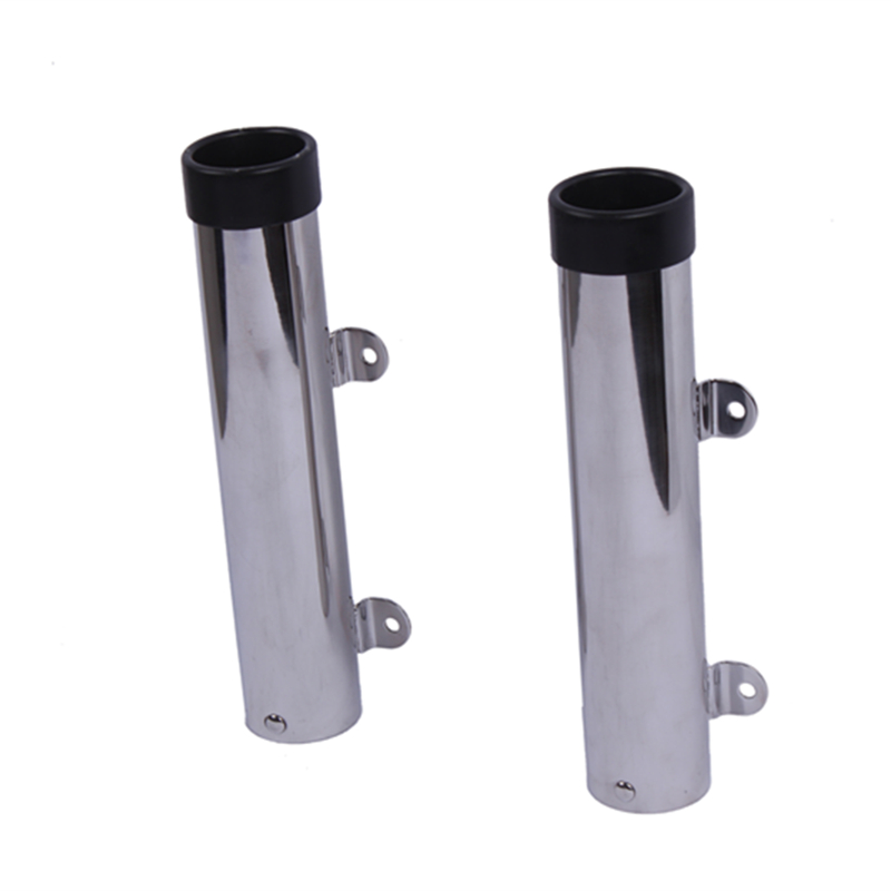 2pcs Removble Clamp Fishing Rod Holder Rack Deck Mount Stainless Steel Fish Rod Holders