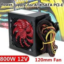 Alimentation PC Intel AMD, 800 W, 800 W, 12V, ATX, PCI-E, 12CM, ventilateur, silencieux, pour ordinateur BTC, nouveauté