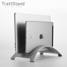 Double Slot Aluminum Alloy Space saving Laptop Vertical Stand Desktop Erected Holder for MacBook Pro Air 2020 ARM M1 Stand