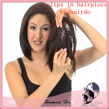 100% insan saçı çıt çıtı ince postiş tam hakiki saç kısa kapatma seksi saç dokuma parçaları kadın üst dantel değiştirme peruk