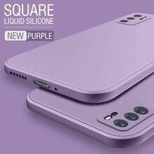 For OPPO Realme K3 k5 X XT Case Square Original Liquid Cover For OPPO A5 A55 A52 A59 A72 F11 A8 A91 A93 A11X Find X2 X3Pro Coque