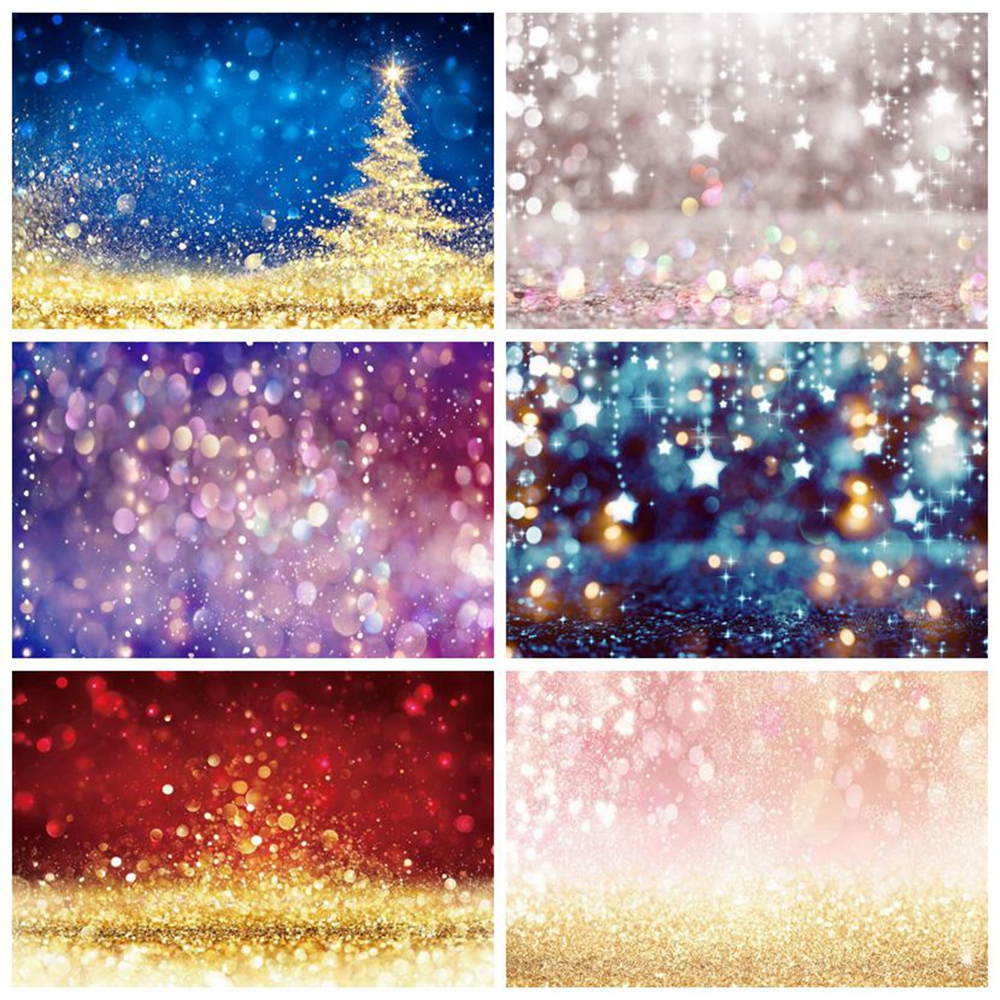 Light Bokeh Polka Dots Shiny Glitter Baby Shower Birthday Party Backdrop Photography Background For Photo Studio Photophone Prop