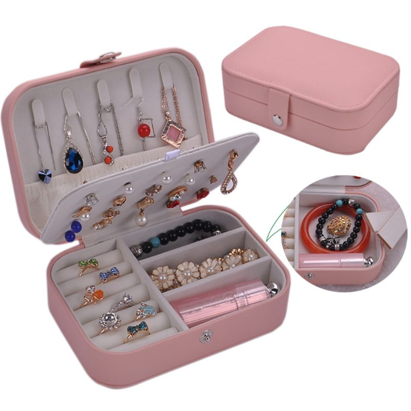 4 Color Fashion Women Jewelry Case Simple Trend Earrings Bracelet Ring Jewerly Storage Box