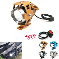 Moto rcycle led faróis u5 led spotlight moto luz de nevoeiro holofotes 12 v para yamaha xp530 xp 530 500 yz80 yz85 yz125 yz250f|  -