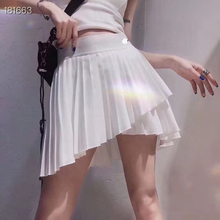 2021 Women New Sports Retro Style High Waist Stretch Cute Girl Pleated Tennis Skirt Pants