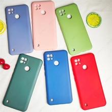 Dla Realme C21 skrzynki pokrywa dla Realme C21 przypadku telefonu Shell Fundas Capa miękkie oryginalne silikonowe etui z płynem dla Realme C21
