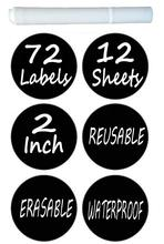 цена на 72 pieces / set 3.8 cm erasable blackboard sticker craft kitchen jar storage box label blackboard chalk board sticker blackboard