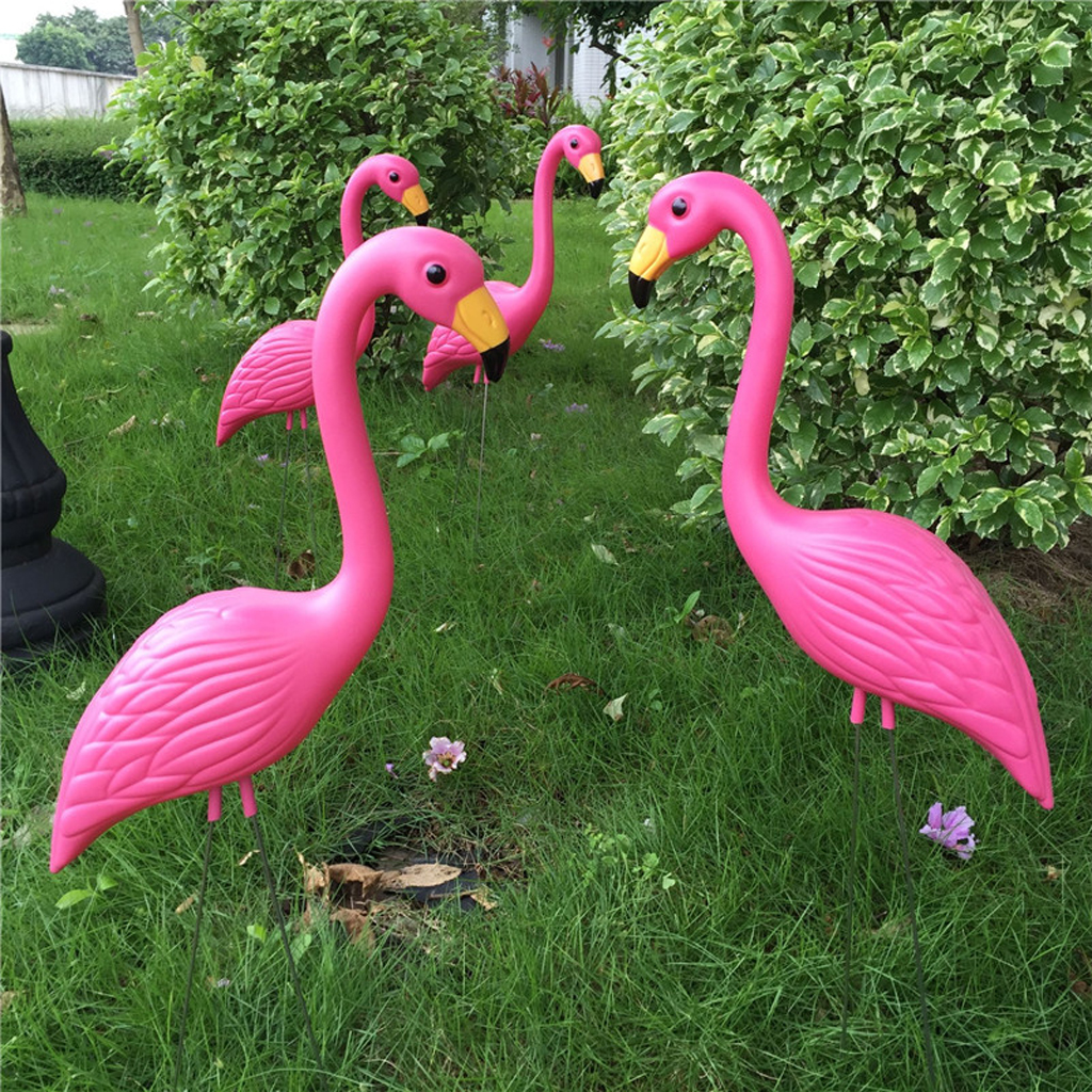 Realistic Large Pink Flamingo Garden Decoration Lawn Art Ornament Home Craft, Pack Of 2