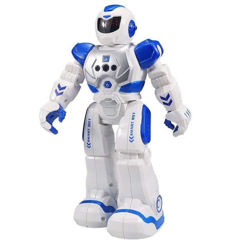 Robô de controle remoto para crianças inteligente robô programável com controle infravermelho brinquedos, dança, cantando, led olhos, gesto sens