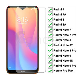 9H Tempered Glass For Xiaomi Redmi 8 8A 7 7A Screen Protector Glass Redmi Note 9S 8 8T 7 9 Pro Max Safety Protective Glass Film