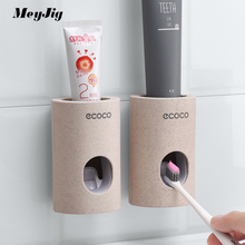 Automatyczny dozownik pasty do zębów odporny na kurz uchwyt na szczoteczki do zębów pasta do zębów wyciskacze stojak z uchwytem na ścianę zestaw akcesoriów łazienkowych