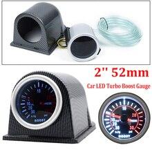 2'' 52mm Car LED Turbo Boost Gauge Meter Pointer 0-30 PSI With Pod Auto Tachometer gauge vacuum